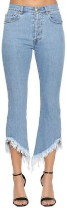 Couture Forte Dei Marmi Flared Cropped Denim Jeans