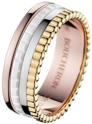 Boucheron Mixed Gold Quatre White Edition Small Ring