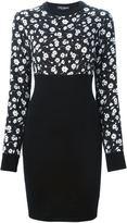 Dolce & Gabbana small rose print combo dress