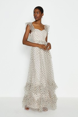 Coast Polkadot Spot Tiered Maxi Dress