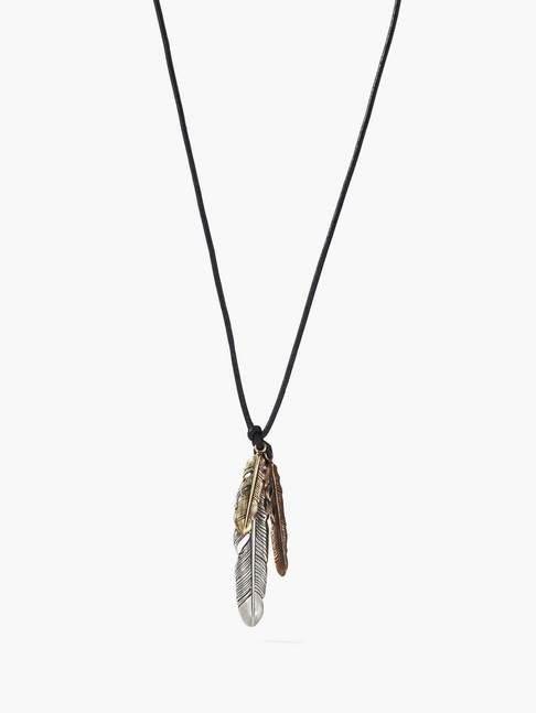 John Varvatos Feather Necklace