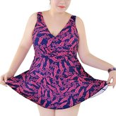 Perfashion Women's Plus Size Fashion Wet Suit Sweet Bikini Swimsuit Swimwear