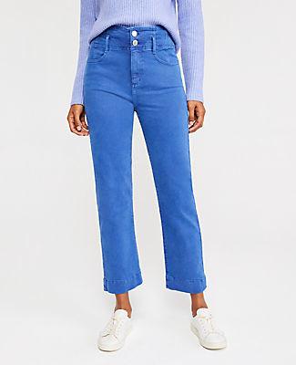 Ann Taylor Sculpting Pocket Corset High Waist Straight Jeans