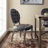 Ophelia Jeff Tufted Upholstered King Louis Back Side Chair & Co. Color: Gray