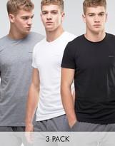 Diesel Crew Neck T-Shirt In 3 Pack