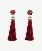 Ann Taylor Jeweled Silk Tassel Earrings