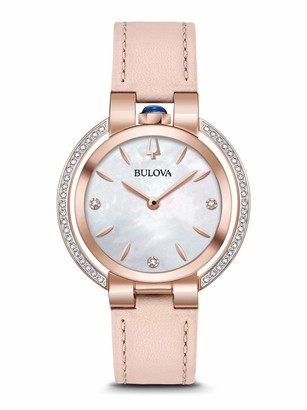 Bulova Womens Analogue Classic Quartz Watch with Leather Strap 98R267