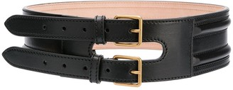 Alexander McQueen Double-Buckle Waist Belt