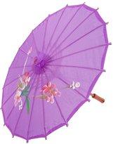uxcell Flower Leaf Pattern Nylon Cover Dancing Mini Parasol Umbrella