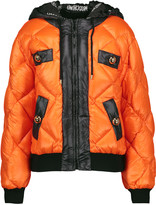 Moschino Quilted shell hooded coat