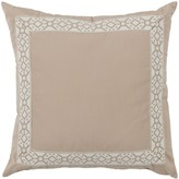 The Well Appointed House Almond Designer Outdoor Pillow with Embroidered Tape
