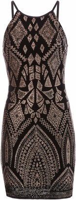 Jump Junior's Tribal Glitter Halter Dress