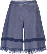 Andrew Gn Frayed Denim Shorts