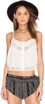 Amuse Society Jaylen Woven Top in White. - size L (also in )