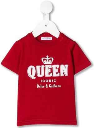 Dolce & Gabbana Kids Queen print T-shirt