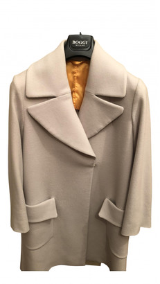 Maison Margiela White Wool Coats