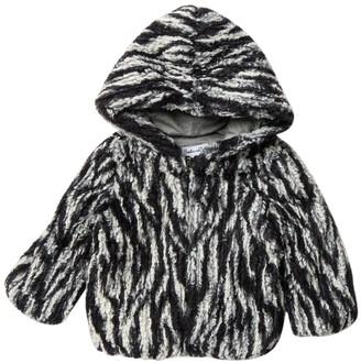 Splendid Striped Faux Fur Jacket (Baby Girls)