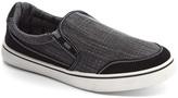 Gray & Black Contrast Stripe Slip-On Sneaker