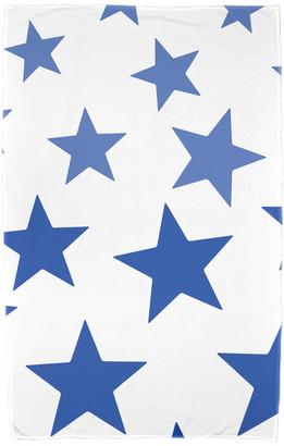 e by design Just Stars, Geometric Print Beach Towel, Blue