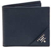 Prada Saffiano Leather Metal Logo Bi-Fold Wallet