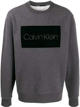 Calvin Klein logo patch jumper