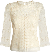 RED Valentino Macramé-lace cotton top