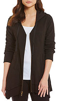 XCVI Mock Neck Zip Front Merchantile Jacket