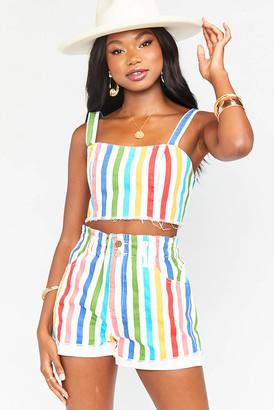 Show Me Your Mumu Emilia Rainbow Road Stripe Short Multi XS