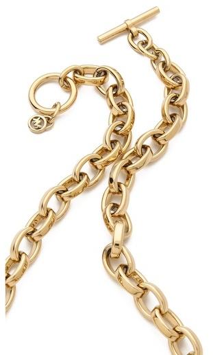 Michael Kors Pave Tortoise Horn Pendant Necklace