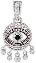 Judith Ripka Sterling Silver Evil Eye Black & Pink Spinel Enhancer