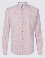 Limited Edition Pure Cotton Slim Fit Paisley Print Shirt