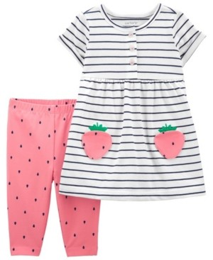 Carter's Baby Girls Strawberry Dress and Legging Set, 2 Pieces