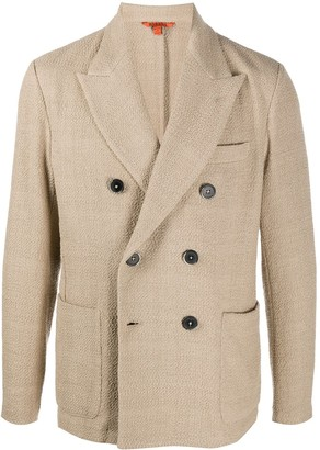 Barena Textured Double-Breasted Blazer