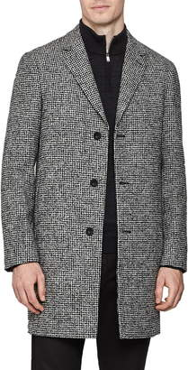 Reiss Kennard Regular Fit Houndstooth Overcoat