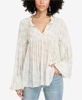 Denim & Supply Ralph Lauren Smocked Gauze Shirt