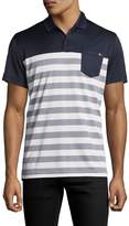 J. Lindeberg Men's Jersey Striped Polo