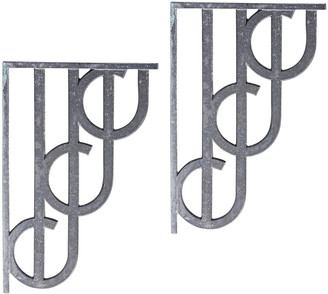Rejuvenation Pair of Unique Streamline Aluminum Shelf Brackets