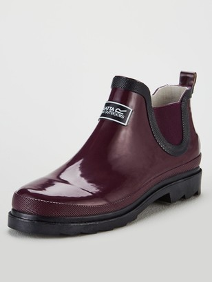 Regatta Lady Harper Ankle Wellington Boots - Burgundy