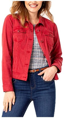 Liverpool Jean Jacket (Terra Rouge) Women's Clothing