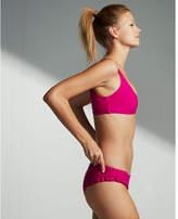 Express low rise ruffle bikini bottoms