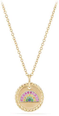 David Yurman 18k Cable Collectible Rainbow Necklace