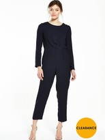 Miss Selfridge Tie Back Jumpsuit - Navy