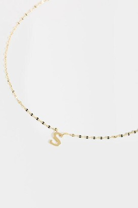 francesca's S Initial Block Letter Necklace - S