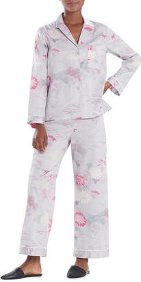 Natori Kiku Printed Cotton Sateen Pajama Set