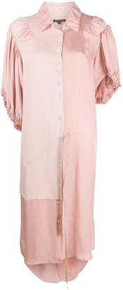 Ann Demeulemeester Panelled Shirt Midi Dress
