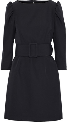 Milly Clare Belted Crepe Mini Dress