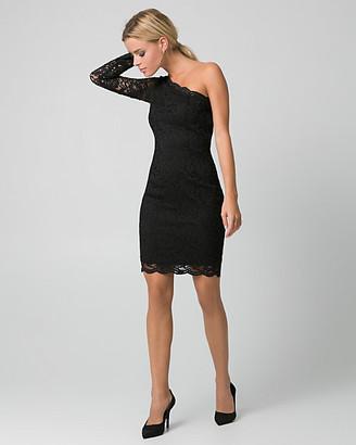 Le Château Lace One Shoulder Cocktail Dress