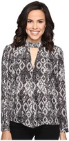 Romeo & Juliet Couture Snake Print Shirt with Keyhole Cut Out