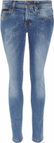 Burberry Brit Marbled-wash mid-rise skinny jeans