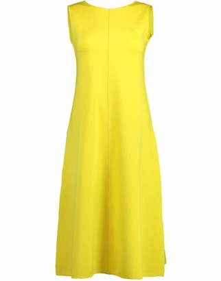 Aspesi Yellow Sleeveless A-Line Crewneck Dress